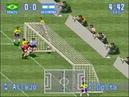 International Superstar Soccer SNES - Bug (ball trapped inside goal)