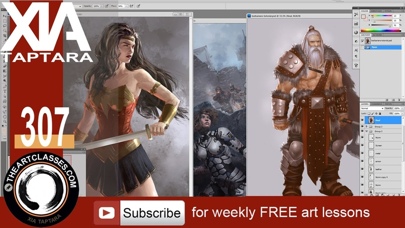 How many layers to use in digital painting - character design