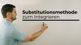Substitutionsmethode, Integrieren, Stammfunktion f