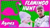 Kids Pretended Hunting on Flamingo Kids Video Toddler Hunting Fun baby vlog lol in real life
