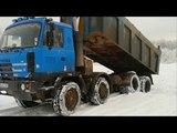 Tatra 815 8x8 stuck in snow