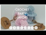 CROCHET BABY PACIFIER PARTY FAVORS
