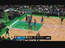 Horford hits Irving with the perfect feed and he drains the trey