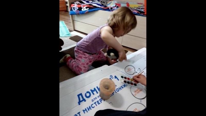 Видеоотчет о картонном домике