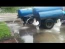 Центральная площадь Биробиджан'а - место слива грязной откаченной воды с улиц города