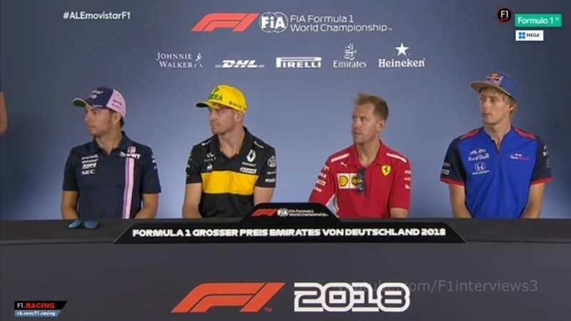 F1 2018. 11. Гран-При Германии, пресс-конференция пилотов