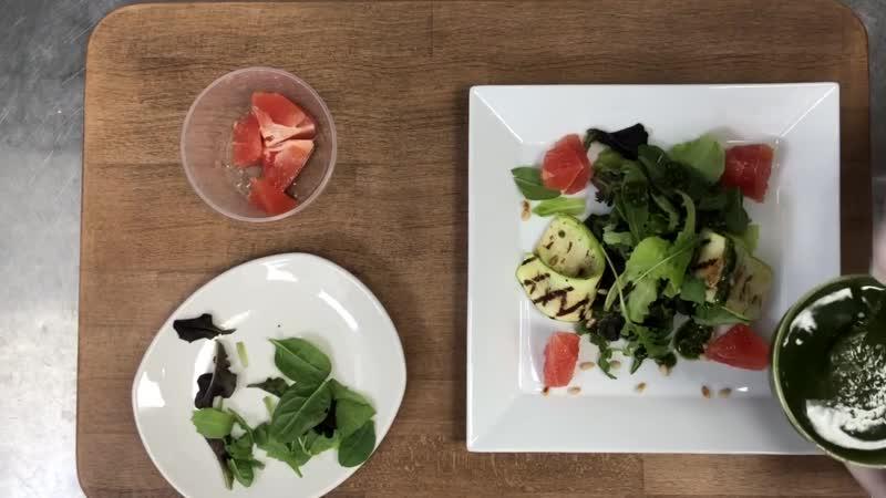 FITFASHION - салат-гриль с лососем