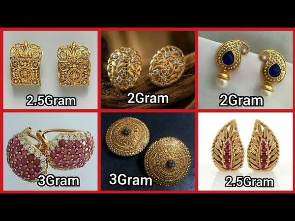 Latest Gold Earrings Designs Daily Wear Gold Studs Designs For Girls