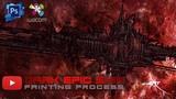 Dark epic spacecraft Dead Matter - Digital painting process in Photoshop