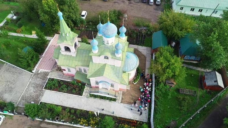 Храм в честь святого благоверного князя Александра Невского город Иланский сентябрь 2018