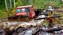 Гряземес на колесных и гусеничных тракторах! Тяжелая это работа, тянуть ТРАКТОР из болота! Подборка