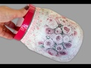Pote de Vidro Vintage Artesanato Reciclagem Do Lixo ao Luxo