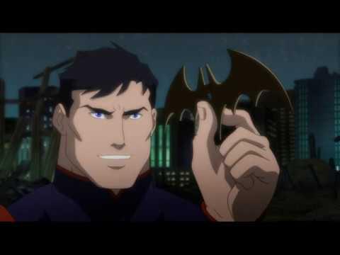 Лига справедливости Война 2014 Бэтмен и Зеленый фонарь против Супермена