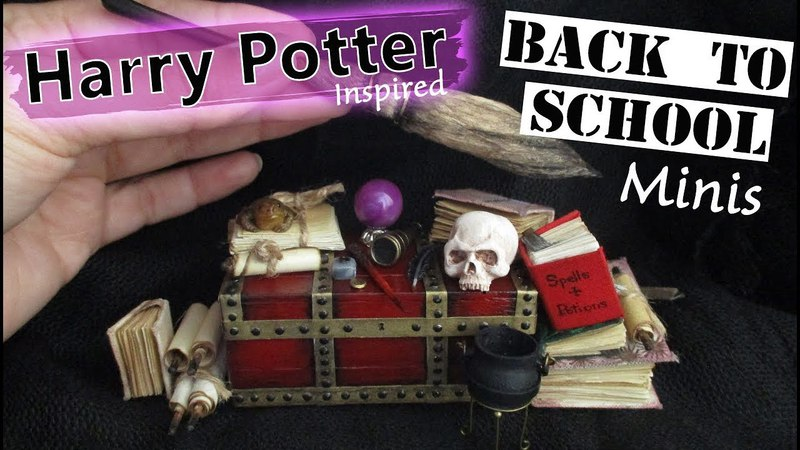 Harry Potter Inspired, Witches Wizards, Back To School Miniatures Tutorial || Maive Ferrando