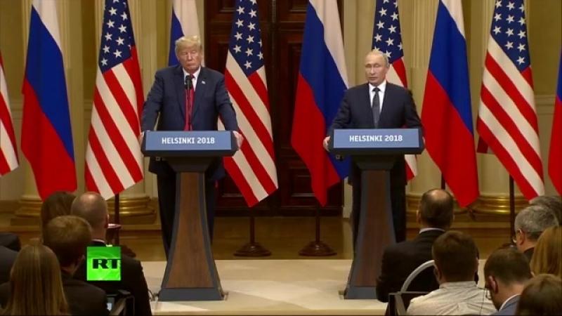 Conferinta comuna de presa Putin - Trump (Helsinky)