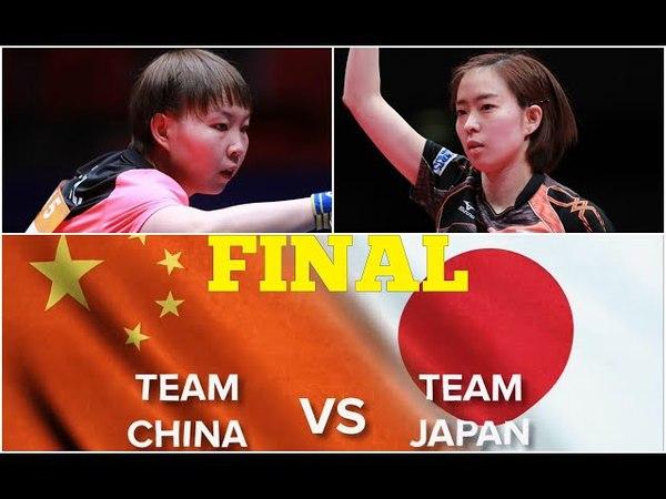ZHU Yuling CHN vs JPN ISHIKAWA Kasumi WT FINAL WTTTC 2018