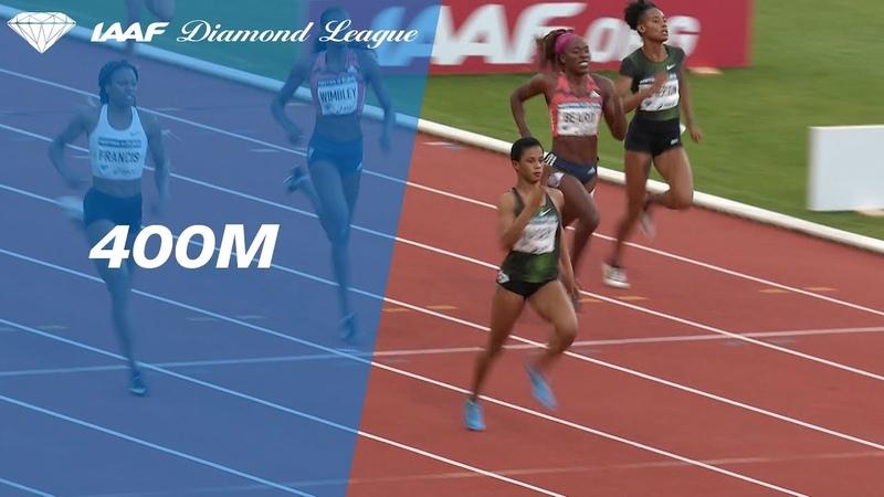Salwa Eid Naser 49.55 Wins Women's 400m - IAAF Diamond League Paris 2018