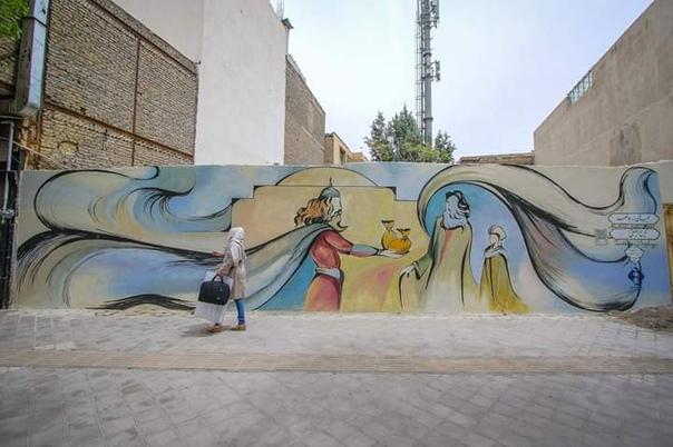 Иранское уличное искусство  </p><p><div id=