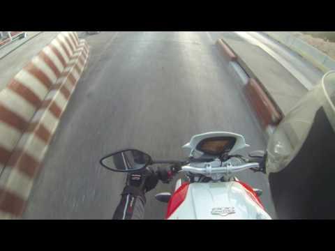 Mv agusta brutale 800 top speed max full throttle super throttle 258 kmh gopro Casablanca El jadida