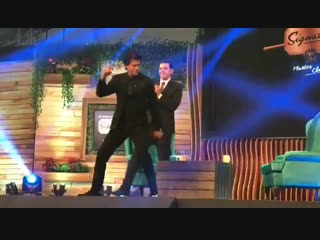 @iamsrk shaking a leg at an event in lucknow today