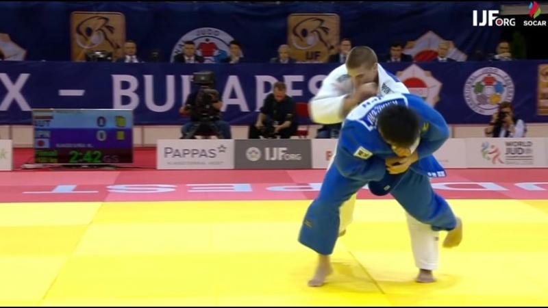 Judo Grand-Prix Budapest 2018 Final 100kg KAGEURA Kokoro JPN-HEGYI Stephan AUT