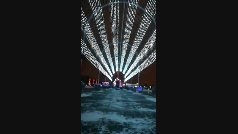Музыкальный тоннель на Поклонной горе ( Парк победы )