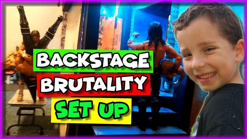 WWE Action Figure Set Up - Backstage Brutality