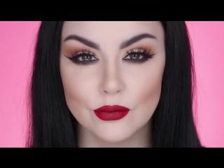 Красивый пошаговый макияж с темной помадой