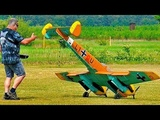 RC ME-110 MESSERSCHMITT BF-110 G4 GIANT SCALE MODEL AIRPLANE FLIGHT DEMO WITH CRITICAL LANDING