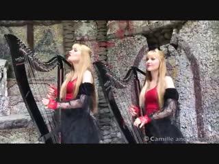 "BLACK SABBATH ""Paranoid"" - Harp Twins, Camille and KennerlyСестры"