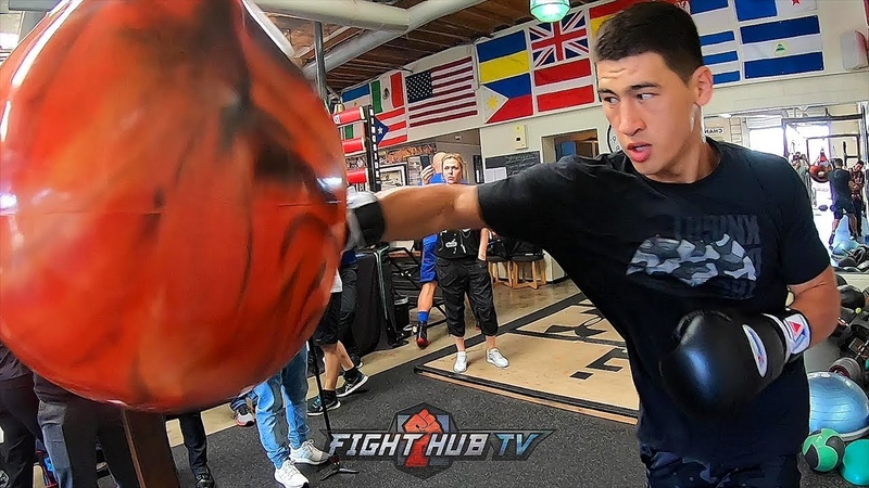 DMITRY BIVOL SMASHES THE HELL OUT OF THE AQUA BAG! SHOWS FRIGHTENING POWER AHEAD OF PASCAL FIGHT