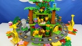 Строим из Lego Duplo, Play toys Lego - railway, carousel, zoo (железная дорога, карусель, животные)