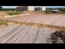 Монтаж опалубки и армирование фундаментной плиты