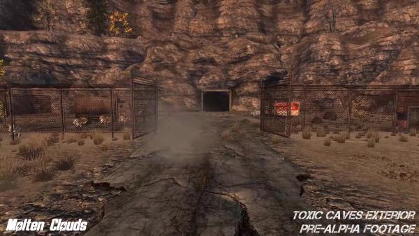 Ремейк Fallout 2. Токсические пещеры снаружи. Пре-Альфа [Molten Clouds]