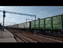 Электровоз ВЛ82М 076 с грузовым поездом необычный тифон станция Изюм