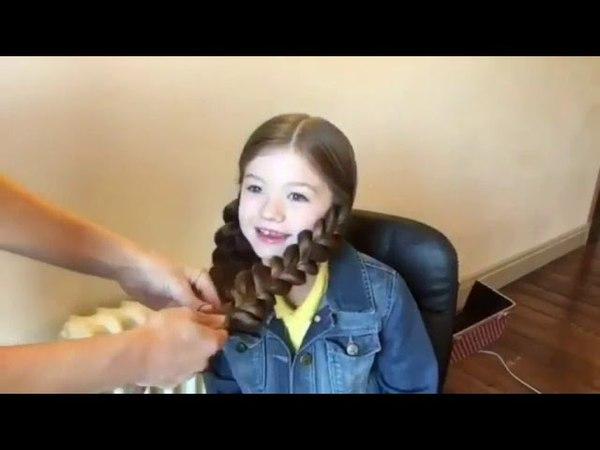 10 простых причесок для девочек - прически в школу за 5 минут