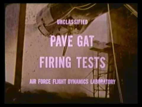 B-57G Canberra/Pave Gat 20mm Vulcan Test Fire