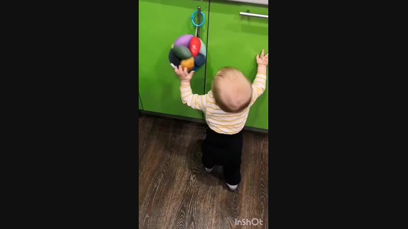 Учимся ходить с мячом такане от rada_mama_chada