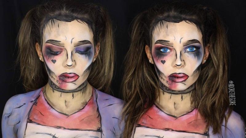 DAY 3: Harley Quinn pop art facepaint tutorialAdore the Halloween 2016