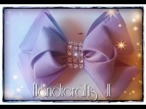 Doble moño de listón super fácil de hacer/ Double ribbon bow