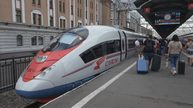 First Class of Sapsan Saint Petersburg Moscow High Speed Train Vlog