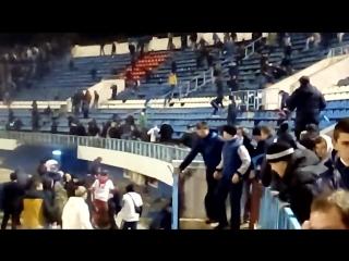 Буза на матче Факел-Динамо в Воронеже 15.10.16