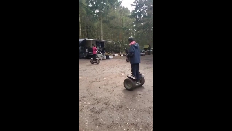 Lad loses control of Segway and falls on his back
