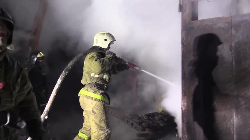 Пожар на складе в Кургане на площади 1600 кв.метров ликвидирован