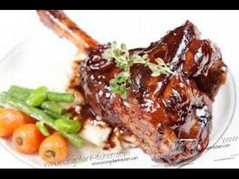 Healthy baked lamb shanks recipe