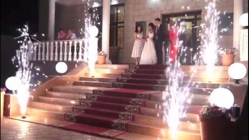 Холодный фонтан - это шикарное дополнение на кыз узату (проводы невесты)