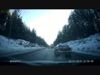 Видео ДТП на трассе М - 5 возле города Миасс