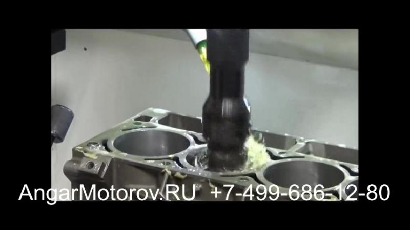 Ремонт Блока Цилиндров Двигателя Audi A4 2.0 TDI Шлифовка Расточка Опрессовка Сварка Гильзовка