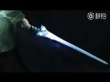 The Kings Avatar Show реквизит - меч Curved Blade Cold Moon - Осколок льда (Световой меч)