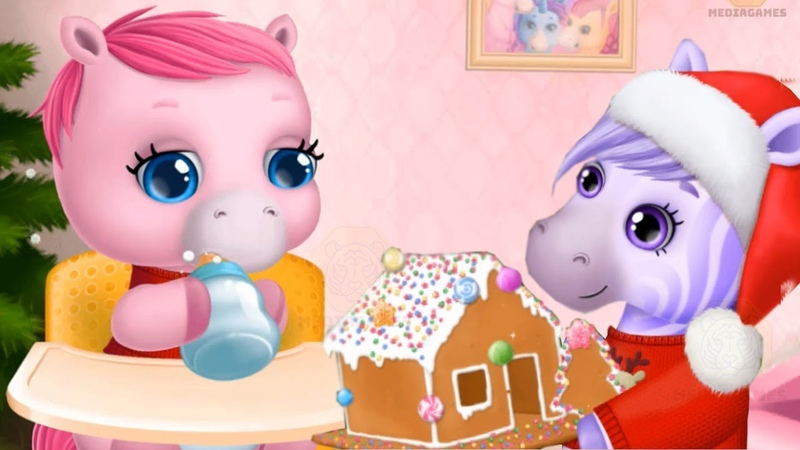 Fun Pony Care Kids Game - Pony Sisters Christmas - Secret Santa Gifts Games For Girls